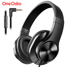 Oneodio T3 3.5mm Wired Headphones Earphone Portable Stereo Over Ear Headband Headset With Microphone For Computer Phone PC