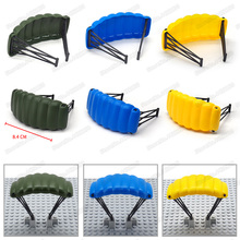 Military Parachute Pubg Building Blocks Piece Equipment Set Air Raid Moc World War 2 City Figures Weapons Diy Christmas Gift Toy