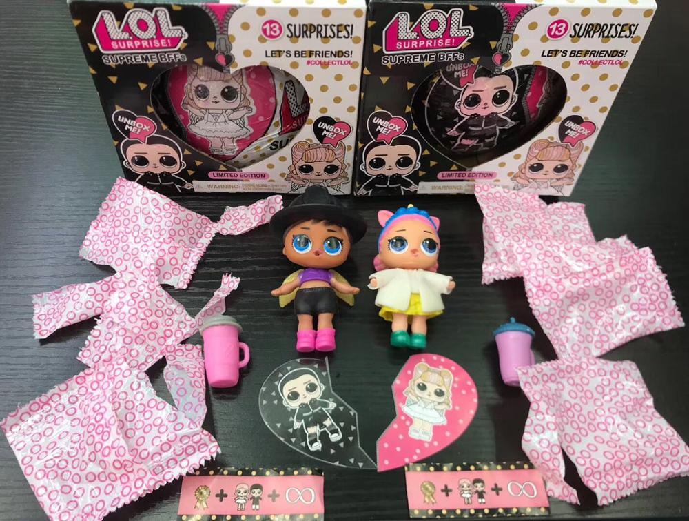 Hot Big Glitter Unpacking LOL Dolls Surprise Figures Action Toys original Ball Novelty For Kid 39 s Birthday Christmas Gift in Action amp Toy Figures from Toys amp Hobbies