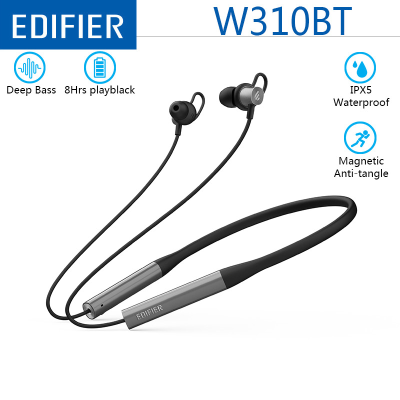 EDIFIER W310BT Bluetooth Earphone Wireless Bluetooth 4.2 In Ear Stereo Earphones Soft Material Design IPX5 with Mic for Sports-in Bluetooth Earphones & Headphones from Consumer Electronics on AliExpress