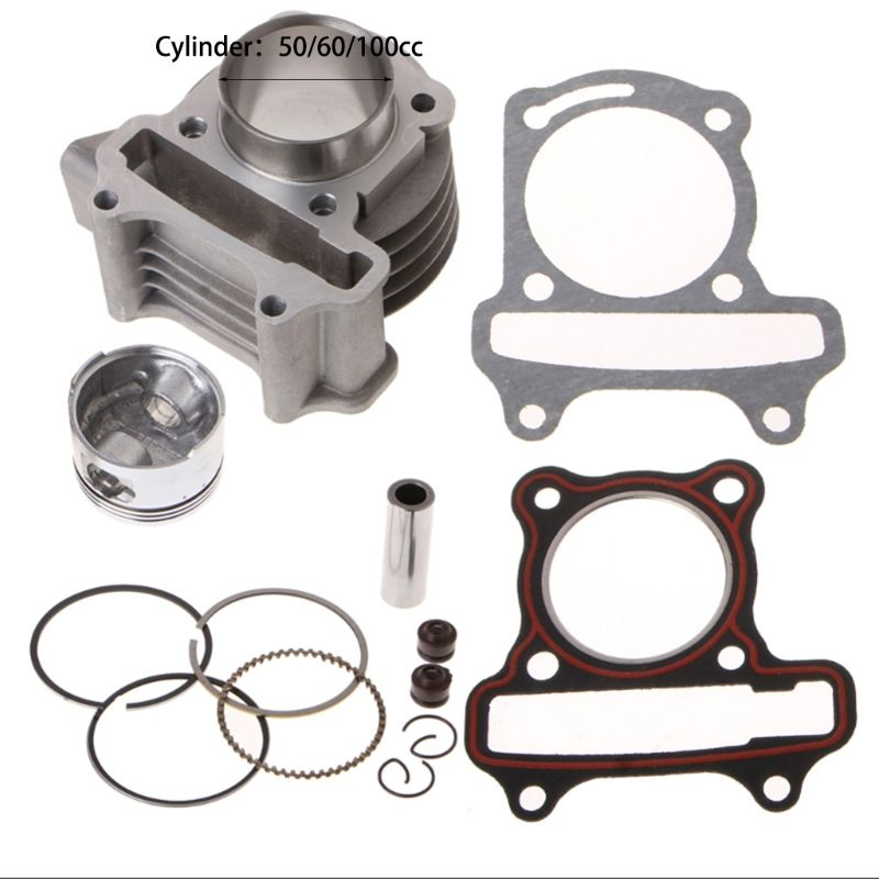 Big Bore Kit Cylinder Piston Rings Fit For GY6 50cc 60cc 100cc 4 Stroke Scooter Moped ATV