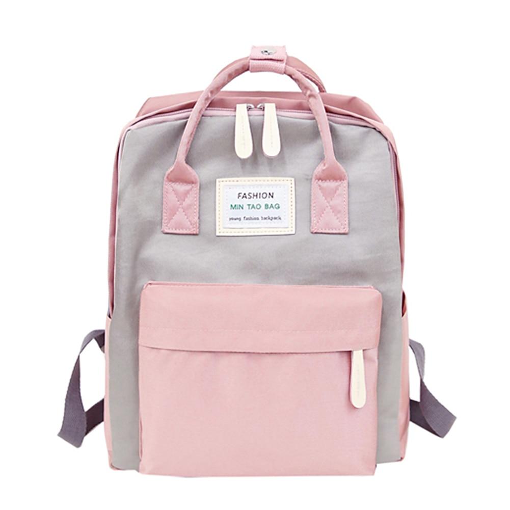 Mulheres mochilas quentes doces cor à prova dwaterproof água sacos de escola para adolescentes meninas mochilas portáteis retalhos mochila feminina