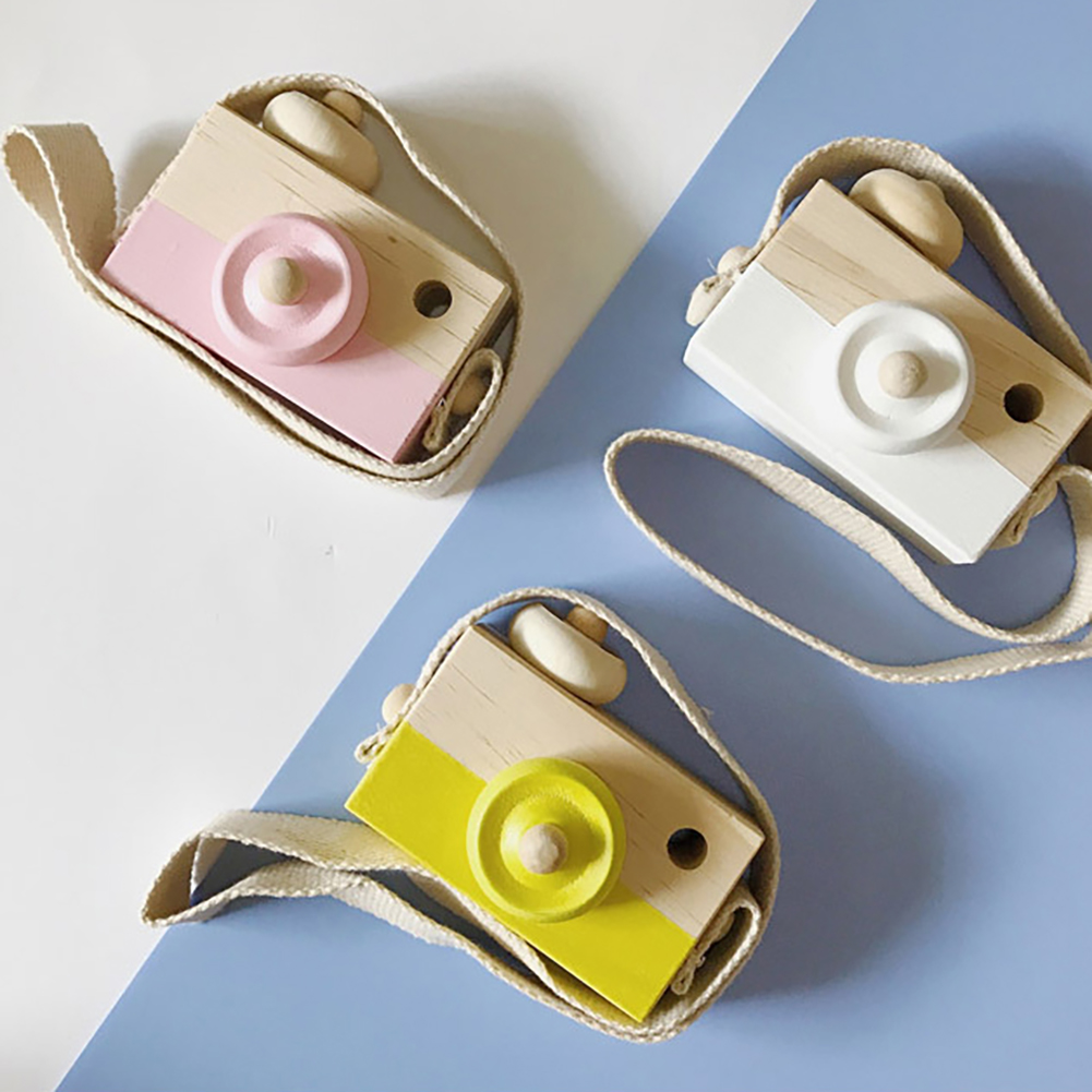 Nordic Cute Wooden Camera Toy Photo Prop Decor Hanging Camera Toys Kids Furnishing Articles Fashion Photography Prop Decor