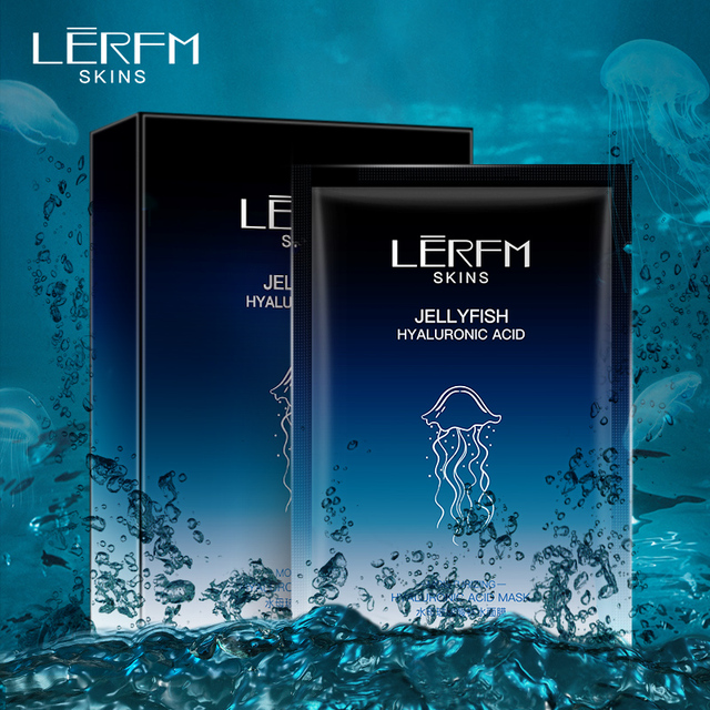LEFRM deep sea jellyfish hyaluronic mask mask replenish water shrink pores compact moisturizing mask skin care products 1