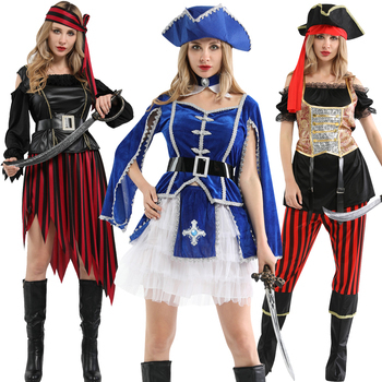 Captain pirates caribbean of the jack sparrow hat belt halloween costume adult women cosplay pirate female