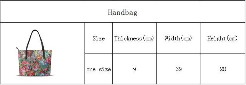Whereisart personalizado sacos de ombro 90pattern s