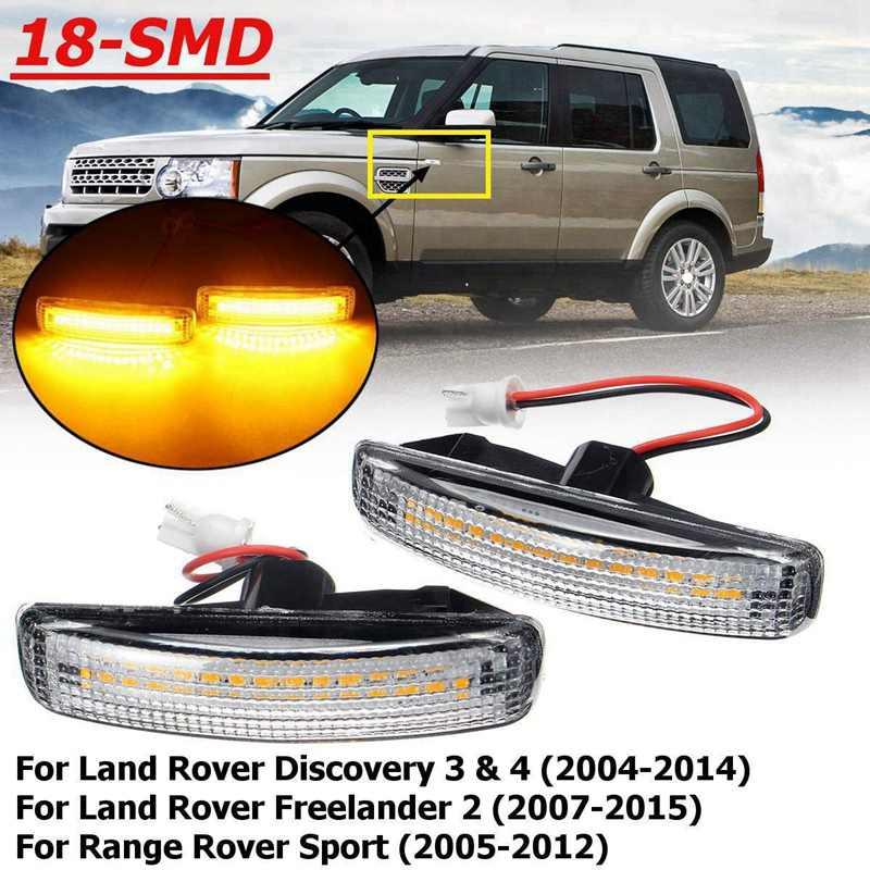 2X ámbar parpadeo Led marcador lateral repetidor luz indicadora para Land Rover discovering 3 4 freellander 2 Land Rover Range Rover Sport