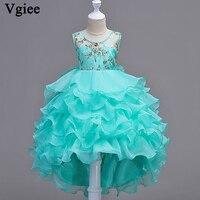 Vgiee Kids Dresses For Girls Princess Dress Baby Clothes 2019 Cute Girls Dresses Flowers Sleeveless Christmas Dress Outfit CC029