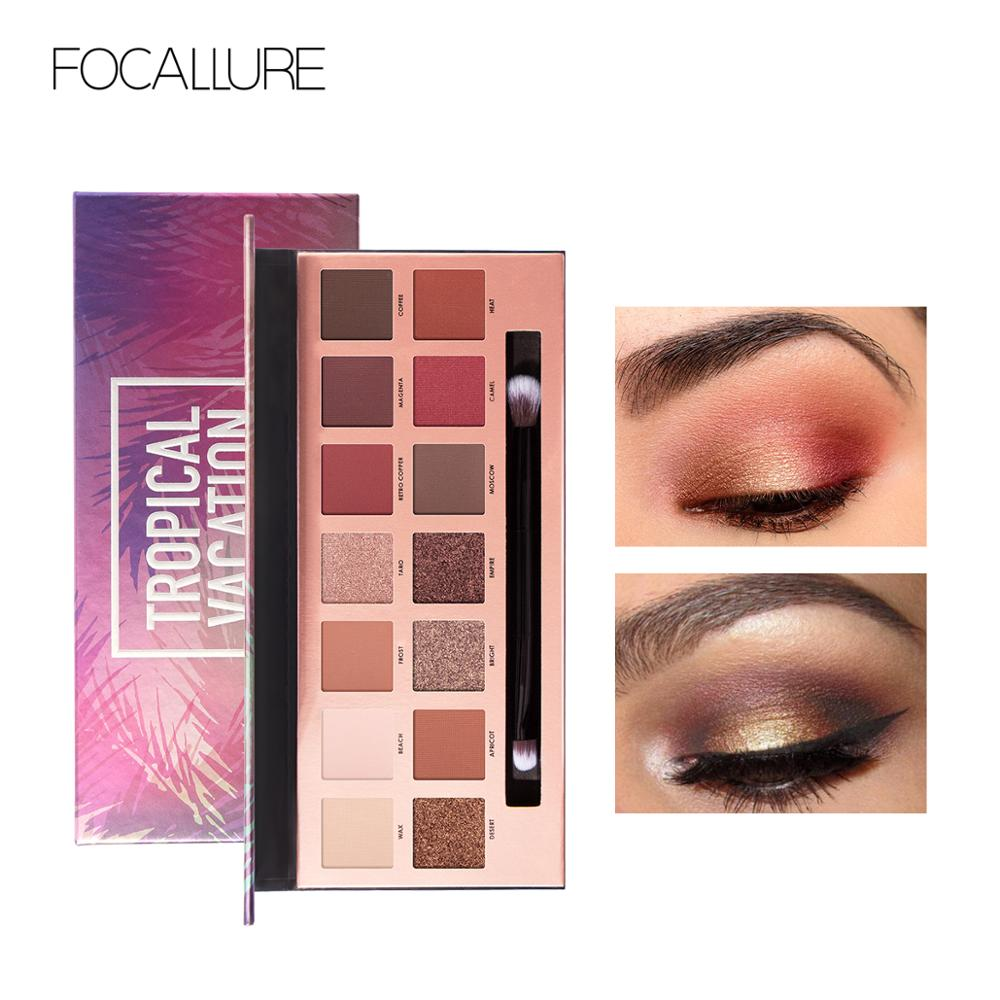 FOCALLURE 14 Colors Eyeshadow Palette Glamorous Smokey Eye Shadow Shimmer Makeup Kit by Focallure