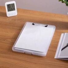 Sharkbang רב תכליתי A4 כתבן קובץ תיקיית כתיבת לוח קליפ עם חריץ עט שולחן עבודה ארגונית אחסון תיבת מכתבים