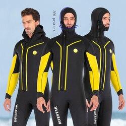 7 мм неопреновый гидрокостюм для подводной охоты, полный корпус, передняя молния, сохраняющий теплый костюм для дайвинга для мужчин, для под...
