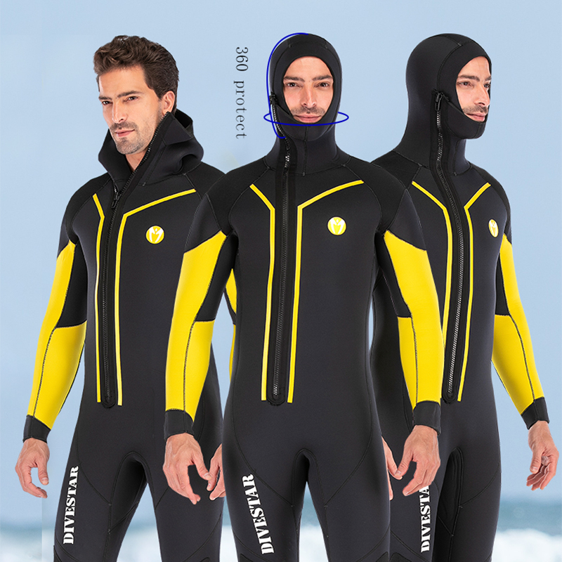 7mm Neoprene Spearfishing Wetsuit Full Body Front Zip Keep Warm Diving Suit For Men Underwater Hunting Swimming Surfing WetsuitsWetsuit   -