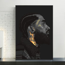 Nipsey Hussle Hip Hop Music Rapper Singer Art Canvas Print Painting Portrait Living Room Wall Picture Home Decoration Poster