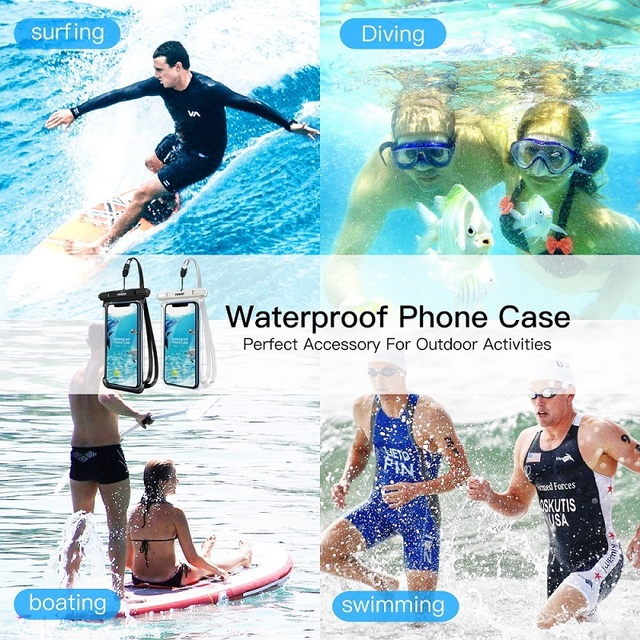 FONKEN Waterproof Phone Case For Iphone Samsung Xiaomi Swimming Dry Bag Underwater Case Water Proof Bag Mobile Phone Pouch Cover 5