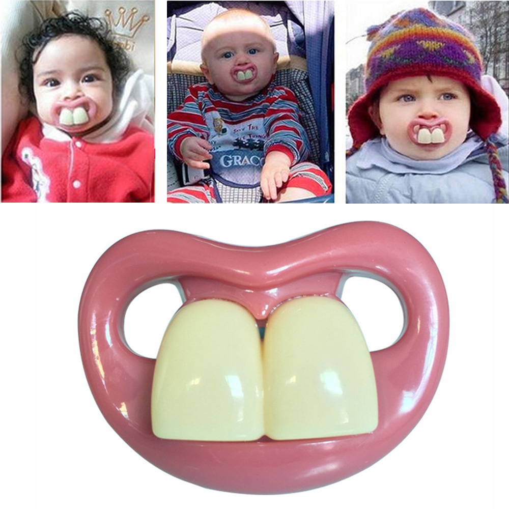 Funny Baby Pacifiers Food Grade Silicone Nipples Teethers Toddler Pacifier For Baby Soothers Teat For Baby Nipple Attachment New