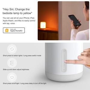 Image 3 - Xiaomi Mijia Lámpara 2 Smart LED de mesa noche Bluetooth WiFi Touch Panel Control mihome APP de luz Led para Apple homeKit Siri