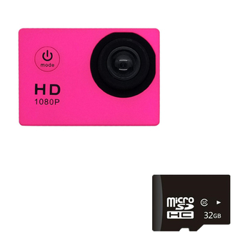 1080P HD Mini Action Camera 12MP Wireless IP Camera Camcorder 30m Waterproof DV Sports Cam CCTV Night Version Human Tracking 9