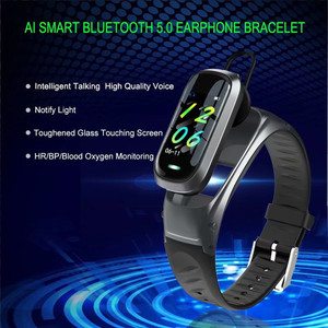 Image 2 - B9 Smart Call Bracelet Bluetooth Earphone Wristband Heart Rate Monitor Fitness Tracker Headset Smart Band Talk For IOS Android