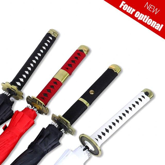 One Piece Roronoa Zoro Automatic Katana Umbrella Creative Rain Women Men Samurai Sword Ninja Knife Umbrella Windproof Parasol 1