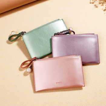 2020 Laser Colorful Coin Purses Ladies Leather Folding Card Holder Bags Pouch Newest Hot Women Short Small Purse Wallet
