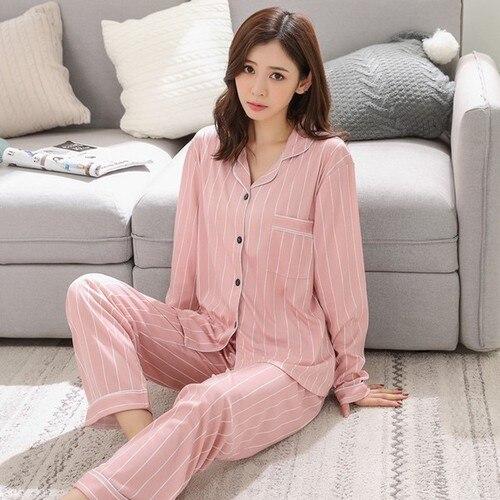 2019 Autumn Long Sleeved Women Pajamas Set Fashion Lovely Print HomeWear Leisure Clothes Women Long Pant Pyjamas Sets Nightwear