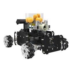 Nieuwe DIY Stoom Omni Wiel Torentje Chariot VR Video Wifi Controle XR Master Battle Programmeerbare Robot Christmas Gift voor STM32-Black