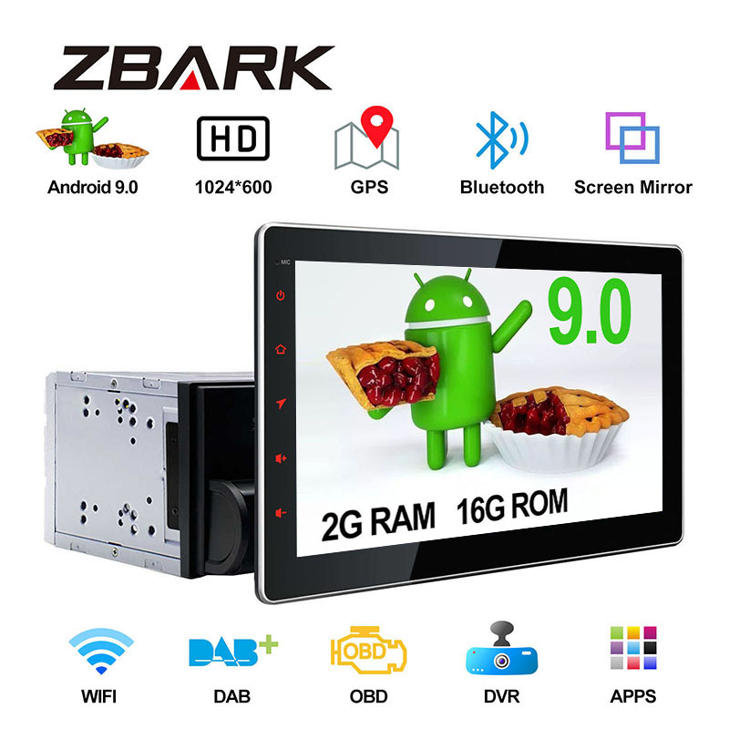 10.1 Inch  Android 9.0 Double 2 Din Universal GPS Navigation  Car Stereo Player Radio YHTY101A2