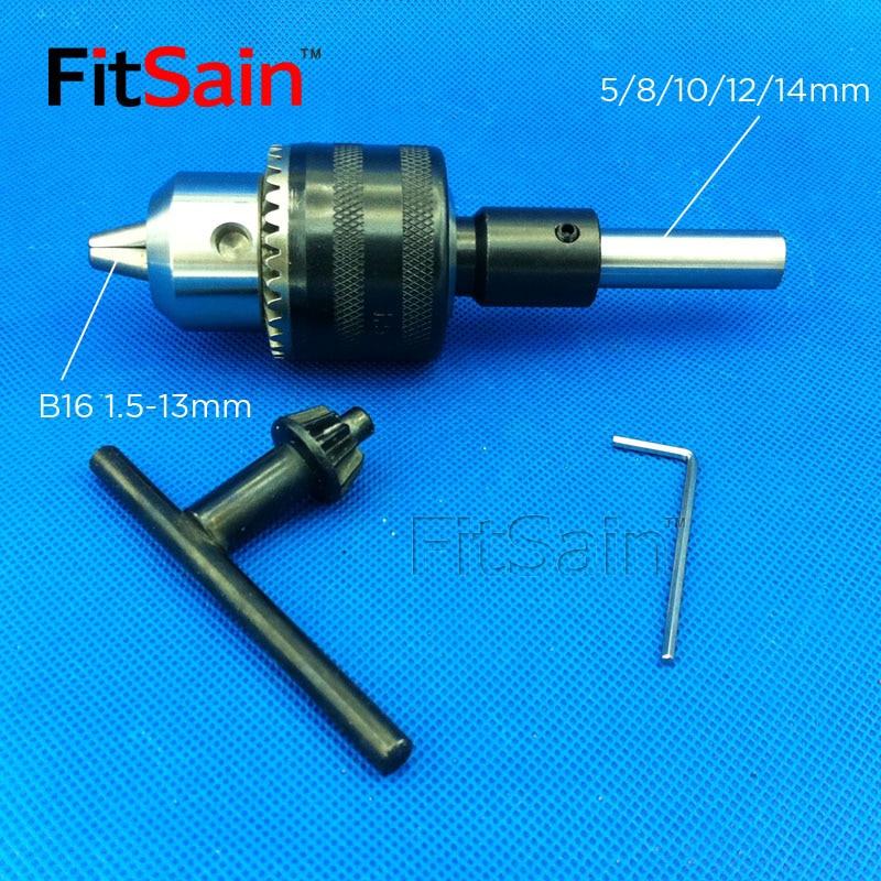 FitSain--B16 1.5-13mm mini drill chuck shaft diameter 8mm, 10mm,12mm Connect Rod Power Tools Accessories drill press