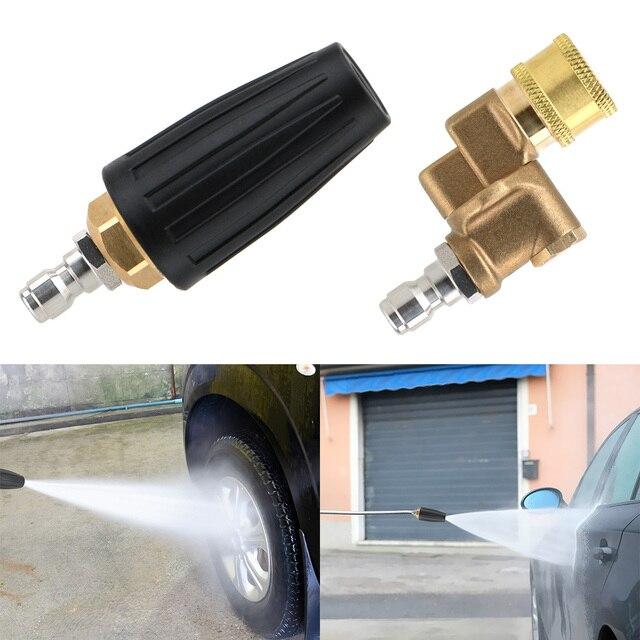 Limpeza do carro turbo bocais pulverizador para conector rápido lavadora de pressão do carro acessório rotativo pivotante acoplador jet pulverizador