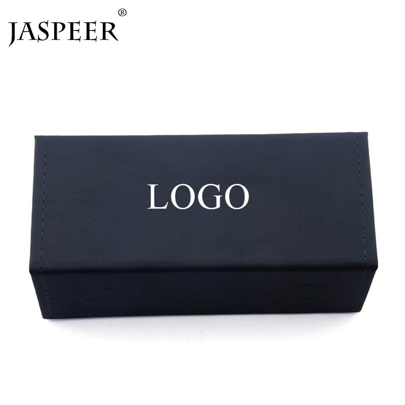 JASPEER Чехол для очков/Сумка/ткань для женщин или мужчин PU материал под заказ логотип солнцезащитные очки черный красный цвет чехол 50 количест