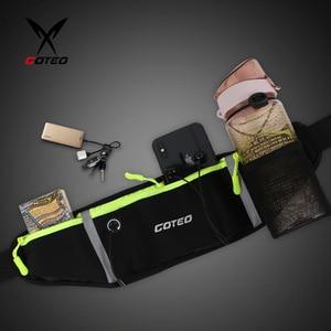 "Image 3 - 7"" Running Marathon Waist Bag Sports Climbing Hiking Racing Gym Fitness Belt Water Bottle Hip Waist Pack for iphone 11 pro max"