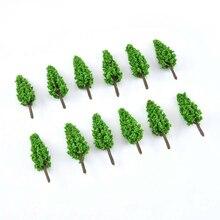 50X фигурки деревьев модели деревьев и поезда ж/д-военных учений диорама декорации Хо-оо весы