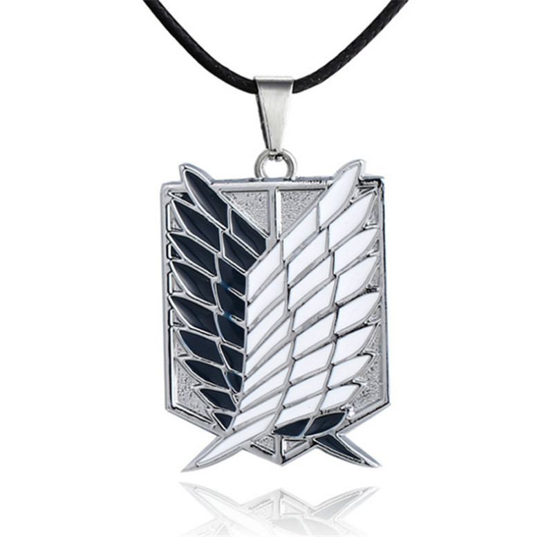 Pendant-Accessories Necklace Chain Wings Titan Attack Shingeki Japanese No-Kyojin Gold