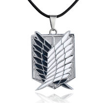 Japanese Anime Attack on Titan Necklace Wings of Liberty Shingeki No Kyojin Leather Chain Gold Silver Pendant Accessories Women(China)