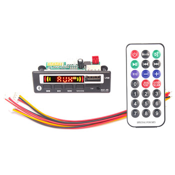 ARuiMei MP3 WMA WAV Decoder Board 5V 12V Wireless Audio Module Color screen AUX USB TF FM Auto Accessories Audio Modification image