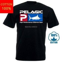 Novo pelágico fisher offshore t camisa gráfica t cor preta tamanho s m l xl 2xl 100 algodão camiseta topos atacado