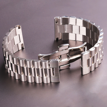 Stainless Steel Watchbands Bracelet Women Men Silver Solid Metal Watch Strap 16mm 18mm 20mm 21mm 22mm Watch Accessories high quality silver 18mm 20mm stainless steel watchbands strap bracelet for men women watches replacement with spring bars