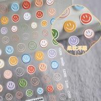 Beautizon Lächeln Nagel Aufkleber Regenbogen Wolke Nette Bild Qualität 3D Gravierte Nagel Kunst Dekorationen Nagel Decals Design
