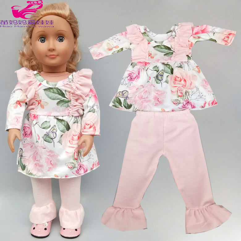 Baby Doll Dress With Trousers For 17inch  Reborn Baby Doll Clothes 18 Inch Reborn Doll Clothes Wear