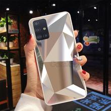 3D diament lustro miękka TPU skrzynki pokrywa dla Samsung Galaxy A72 A52 A12 M12 A21S A31 A41 A51 A71 M21 M21S M31 S20 FE A32 A42 tanie tanio CorsKagi CN (pochodzenie) Częściowo przysłonięte etui Anti-Scratch Kurzoodporny Zwykły FOR Samsung A72 A01 A52 A51 (A515 4G) FOR Samsung A71 (A715 4G)
