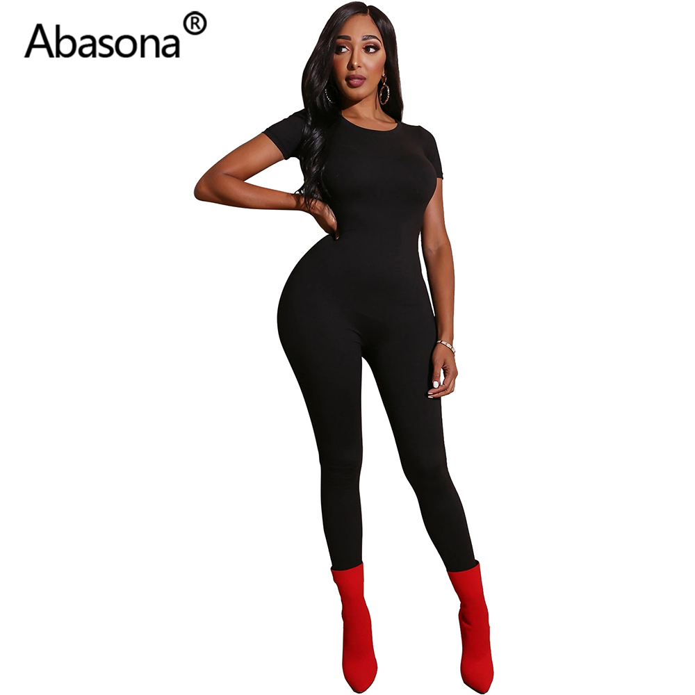 Abasona Summer Sexy Bodycon Rompers Womens Jumpsuit Women Clothes Party Night Club Playsuits Ladies Casual Overalls Ropa Mujer