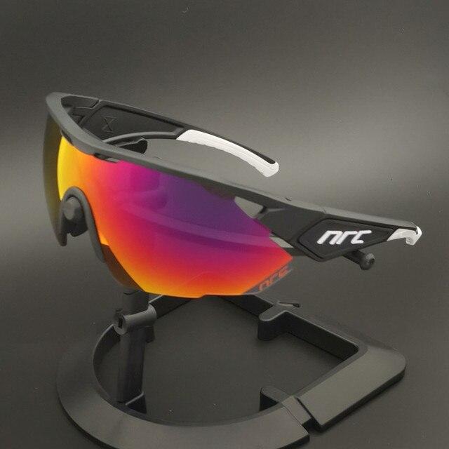 Nrc marca superior ciclismo óculos de bicicleta dos homens uv400 ciclismo óculos de sol gafas tr90 mtb estrada esportes óculos de sol 4