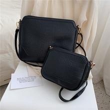 Croco Female shoulder bag Crocodile Pattern PU Leather Crossbody Bags For Women 2019 Messenger Bag Lady Luxury Quality Handbags