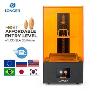 Image 1 - Longer Orange 10 LCD 3D מדפסת סביר SLA 3D מדפסת מתכת גוף משופרת Z ציר חכם תמיכה UV שרף מדפסת