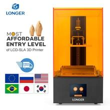 Longer Orange 10 LCD 3D เครื่องพิมพ์ราคาไม่แพง SLA 3D เครื่องพิมพ์โลหะปรับปรุง Z แกนสมาร์ทสนับสนุนเรซิน UV เครื่องพิมพ์