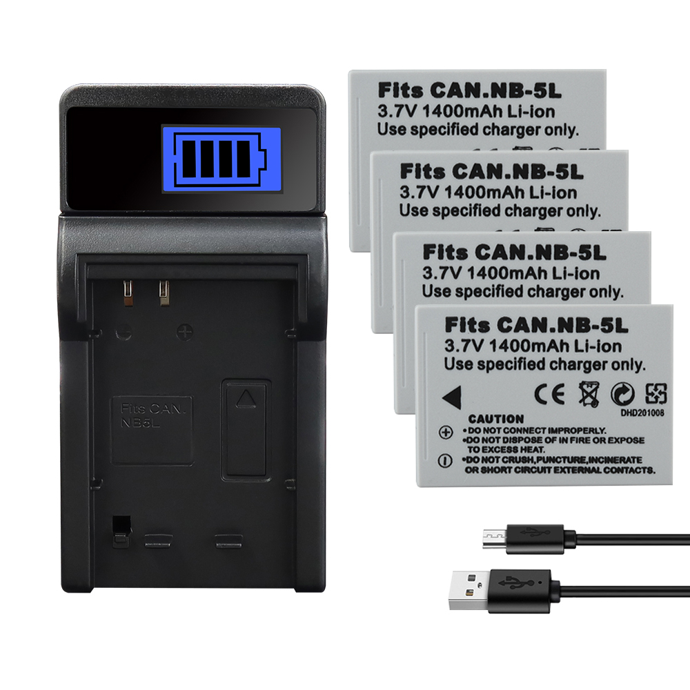 NB-5L NB 5L <font><b>Battery</b></font> 1400mAh For <font><b>Canon</b></font> SX200is SX210IS SX220HS <font><b>SX230HS</b></font> CB-2LXE Shot S100 S110 SD950 SD900 SD970 990 IS Series image