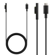 USB C كابل شحن ، سطح الاتصال USB C كابل الشاحن ل مايكروسوفت السطح برو 3/4/5/6 ، سطح محمول/سطح كتاب 1/2