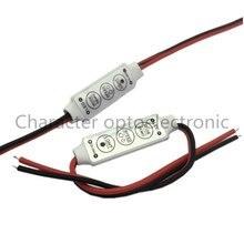 10 шт. 12 В 24 в мини Led диммер управления Лер 3 клавиши 6A для управления одиночной цветной светодиодной полосы света SMD 3528 5050 5630