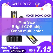 HLXG Mini H4 luces H7 LED Far lamp Car Headlight 10000LM 12V H11 9005 HB3 9006 HB4 H8 4300K 5000K 6000K 8000K Bulb Accessories(China)