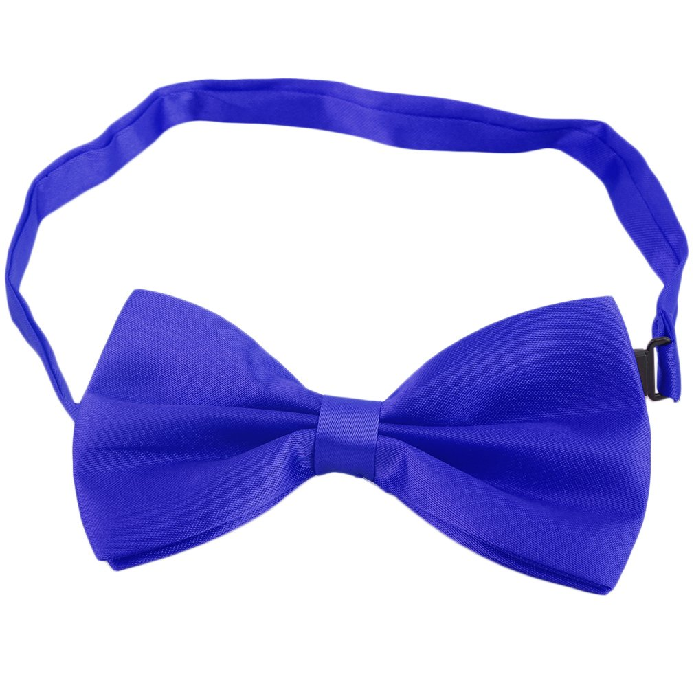NEW Fashion Men's Formal Commercial bowties Solid Color Tuxedo Classic Bowtie Wedding Party Satin Bow Tie Necktie
